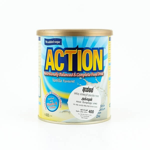 Action Milk Powder Vanilla 400G - in Sri Lanka
