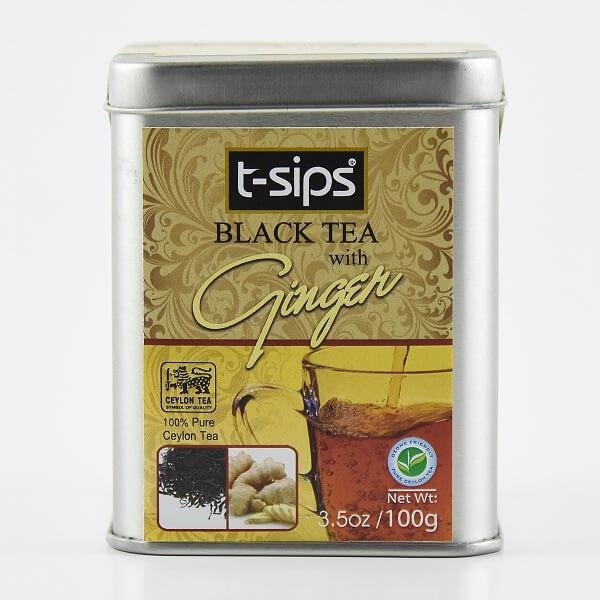 T-Sips Tea Sliver Ginger 100G - T-SIPS - Tea - in Sri Lanka