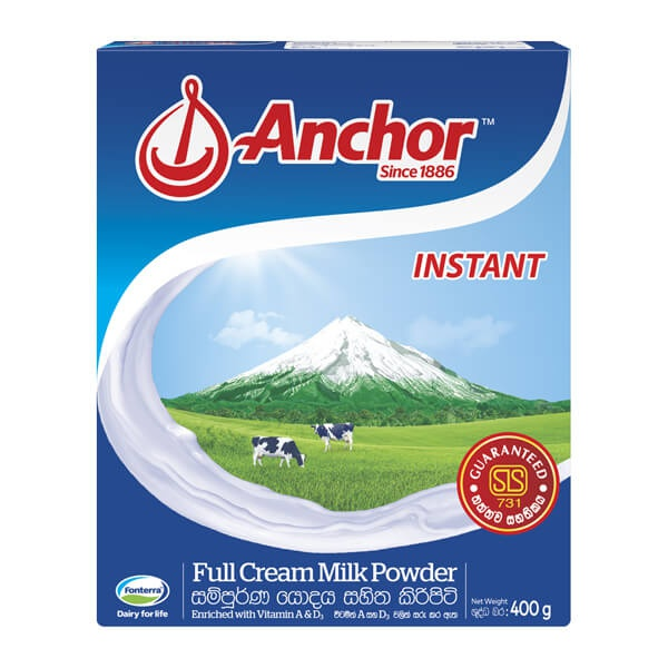 Anchor Milk Powder Inst Bib 400G - ANCHOR - Milk Foods - in Sri Lanka