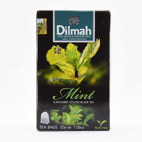Dilmah Tea Flavored Black Bags Mint 20s 30g - DILMAH - Tea - in Sri Lanka