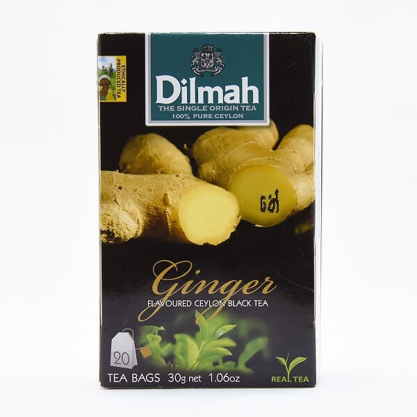 Dilmah Tea Bags Ginger 20S 30G - DILMAH - Tea - in Sri Lanka