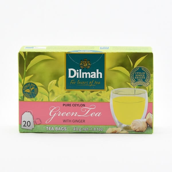 Dilmah Tea Green Bag+Ginger 20S 40G - DILMAH - Tea - in Sri Lanka