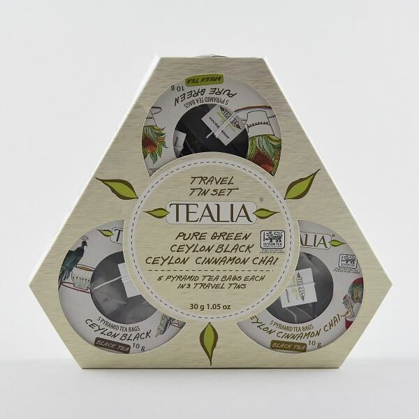 Tealia Tea Travel Set Pyramid Tea Bag 30g - in Sri Lanka