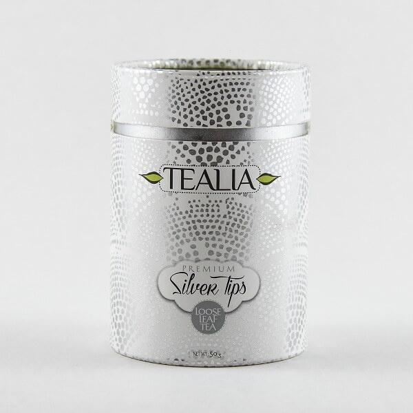 Tealia Tea In Tin Siilver Tips 50G - TEALIA - Tea - in Sri Lanka