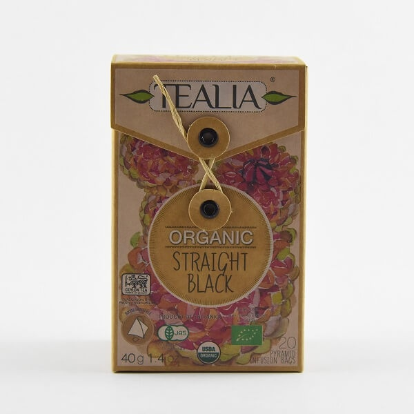 Tealia Tea Bag Black Organic 40g - in Sri Lanka