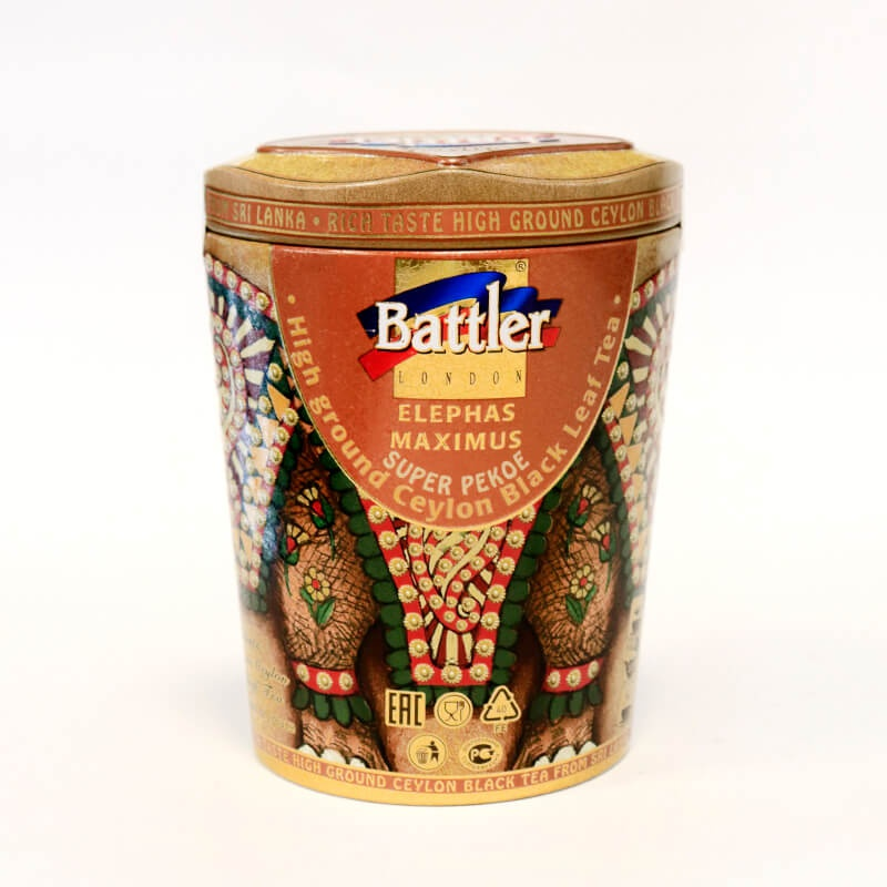 Battler Tea Tin Caddy Elephant Peko 100g - in Sri Lanka