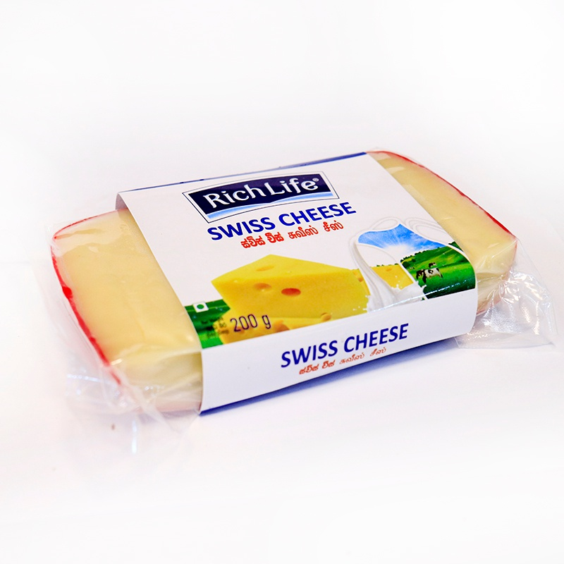 Richlife Swiss Cheese 200g - RICHLIFE - Cheese - in Sri Lanka