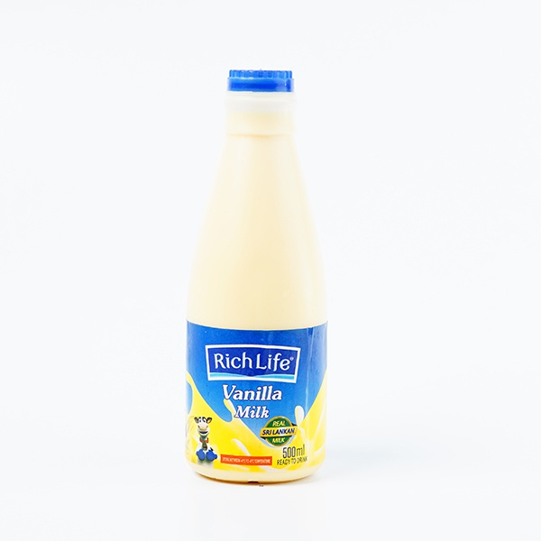Richlife Pasteurized Milk Vanila 500ml - in Sri Lanka