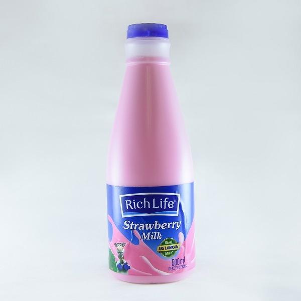 Richlife Pasteurized Milk Strawberry 500ml - in Sri Lanka