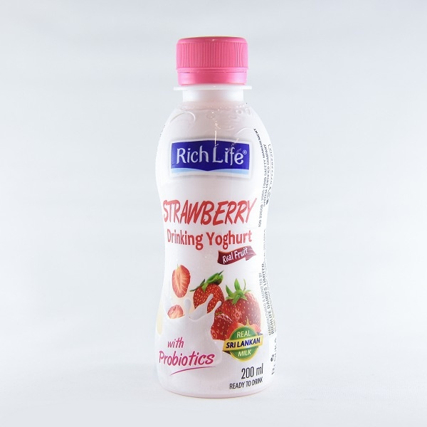 Richlife Drinking Yoghurt Strawberry 200ml - in Sri Lanka