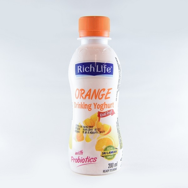 Richlife Drinking Yoghurt Orange 200ml - in Sri Lanka
