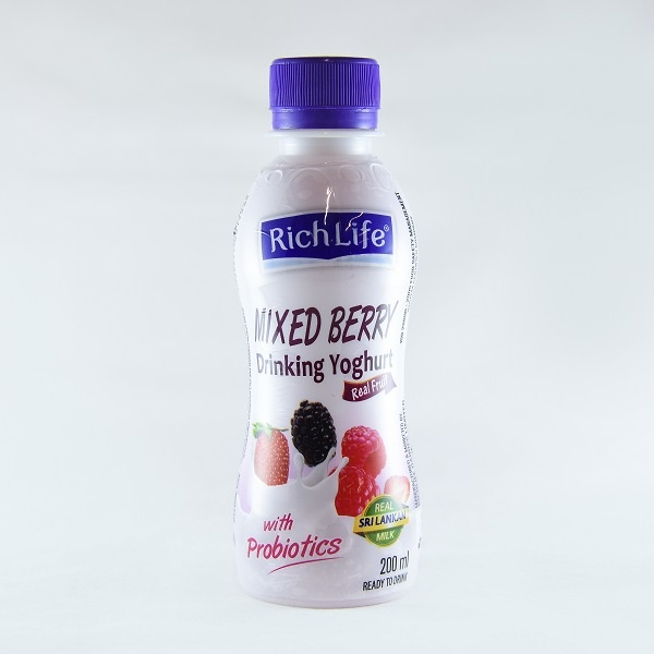 Richlife Drinking Yoghurt Mixed Berry 200ml - RICHLIFE - Yogurt - in Sri Lanka