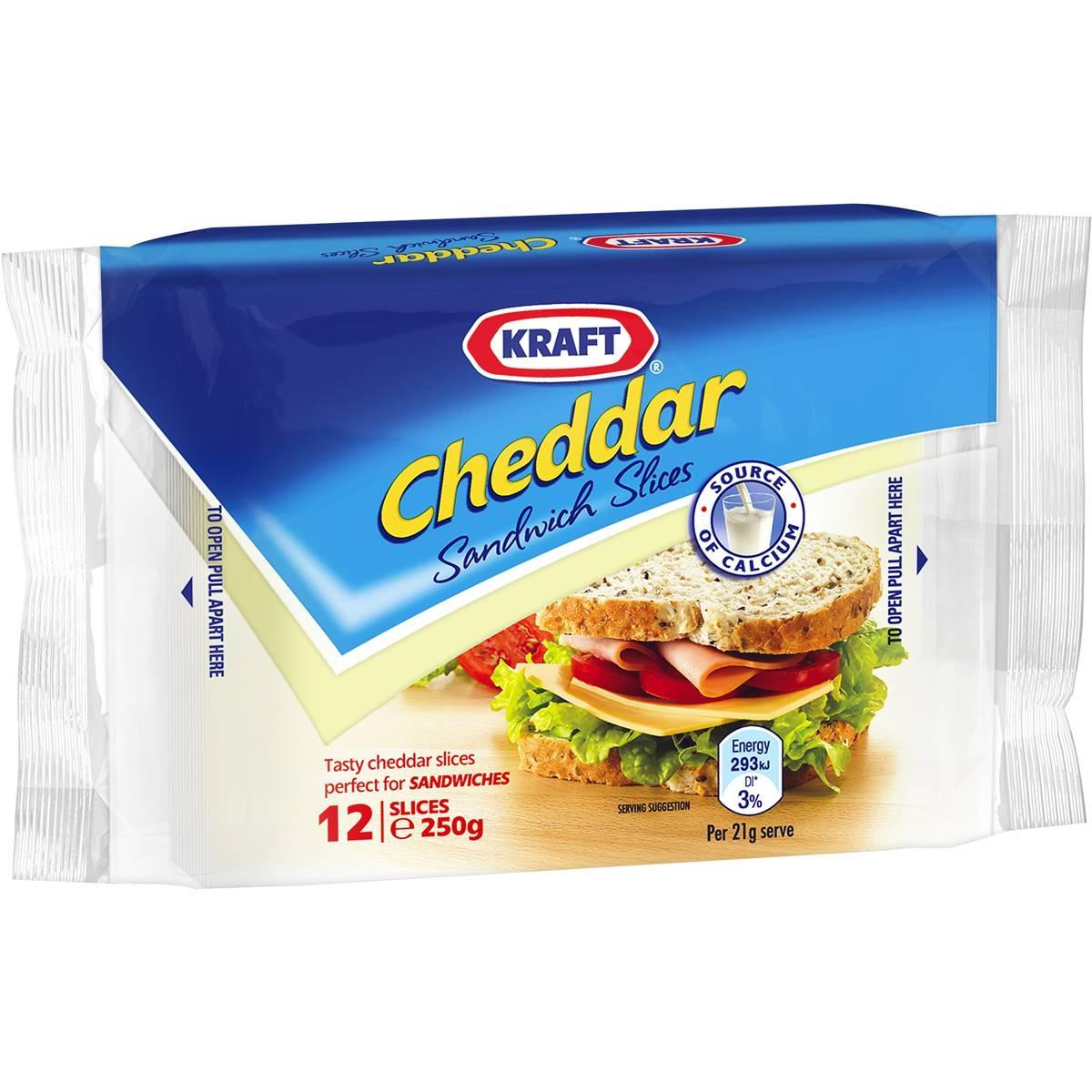 Kraft Cheese Cheddar Singles Slices 250g - KRAFT - Cheese - in Sri Lanka