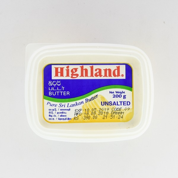 Highland Butter Unsalted 200G - in Sri Lanka