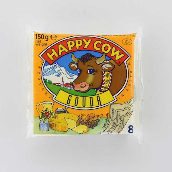 Happy Cow Cheese Gouda Slices 150G - HAPPY COW - Cheese - in Sri Lanka