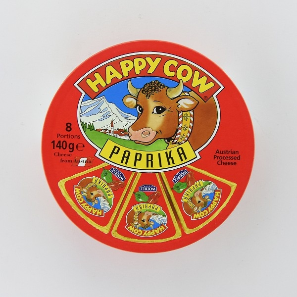 Happy Cow Cheese Paprika Wedges 140g - HAPPY COW - Cheese - in Sri Lanka