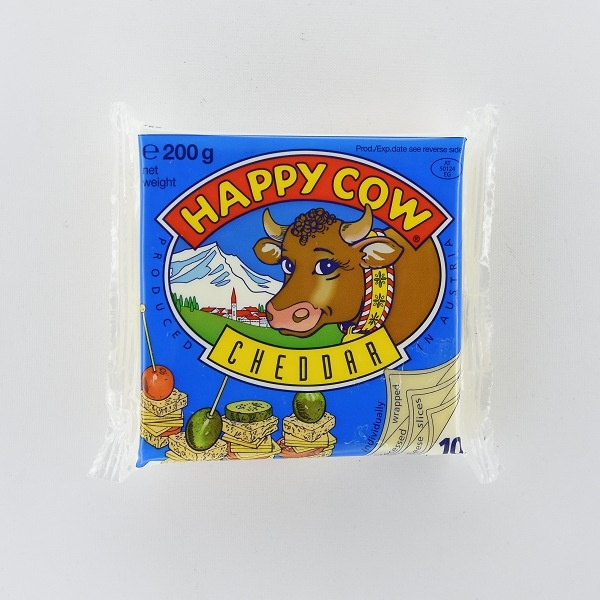 Happy Cow Cheese Cheddar Slices 200G - in Sri Lanka