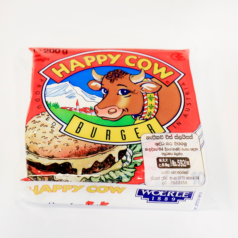 Happy Cow Cheese Burger Slices 200G - HAPPY COW - Cheese - in Sri Lanka