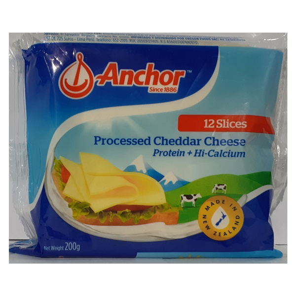 Anchor Cheese Slices 200G - ANCHOR - Cheese - in Sri Lanka