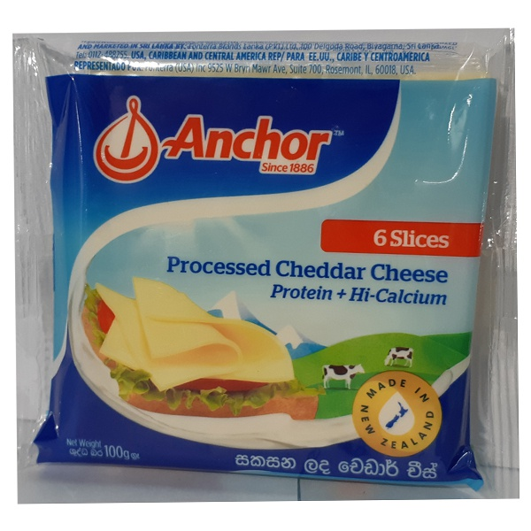 Anchor Cheese Slices 100G - in Sri Lanka