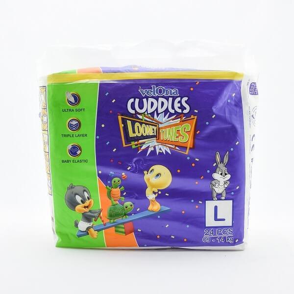 Velona Cuddles Looney Toones Baby Diaper Large 24pcs - in Sri Lanka