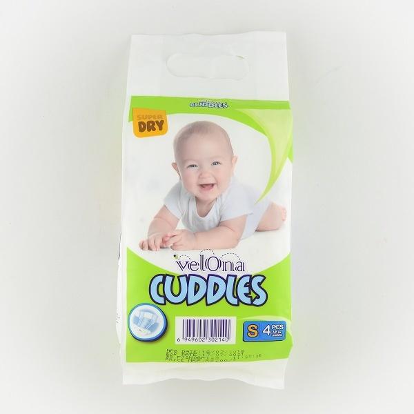 Velona Cuddles Baby Diaper Small 4pcs - in Sri Lanka