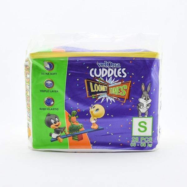 Velona Cuddles Looney Toones Baby Diaper Small 28pcs - in Sri Lanka