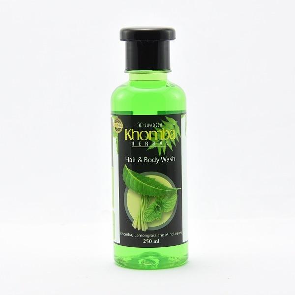 Khomba Hair & Body Wash Lemongrass And Mint 250ml - in Sri Lanka