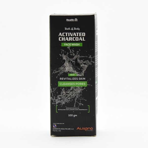 Auxano Face Wash Active Charcoal 100ml - in Sri Lanka