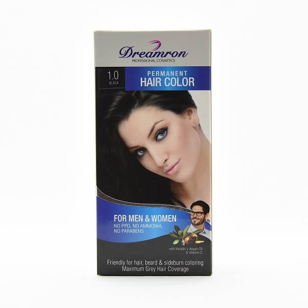Dreamron Hair Color Ppd Free Pack 1.0 For Men & Women No Ammonia Black - in Sri Lanka