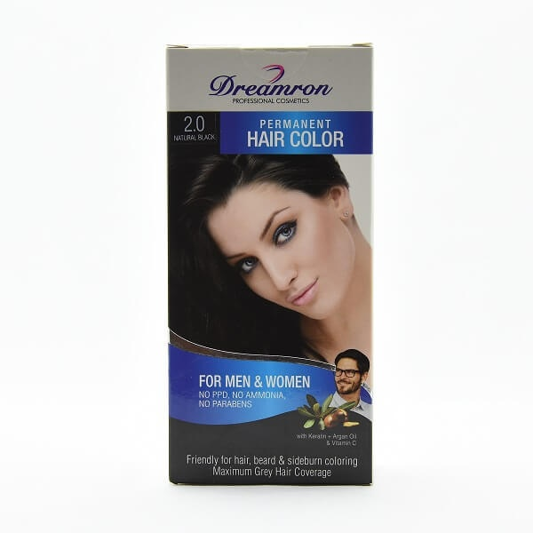 Dreamron Hair Color Ppd Free Pack 2.0 For Men & Women No Ammonia Black - in Sri Lanka
