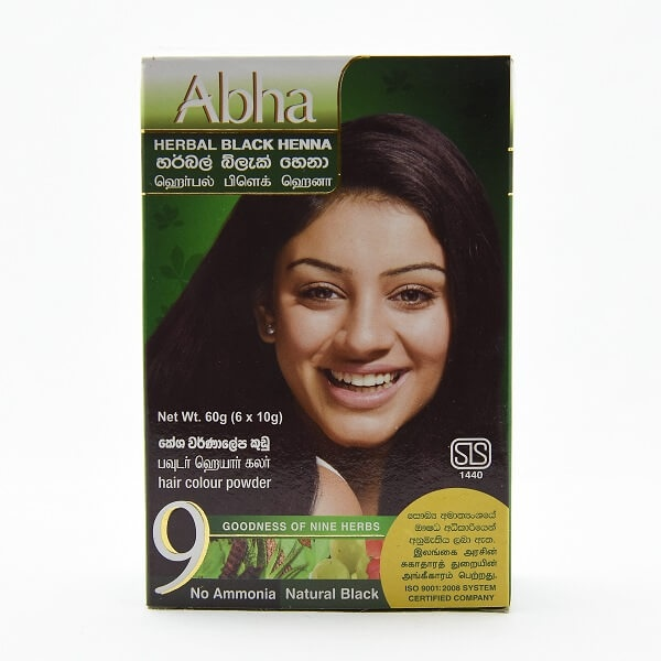Abha Henna Herbal Black 60g - in Sri Lanka
