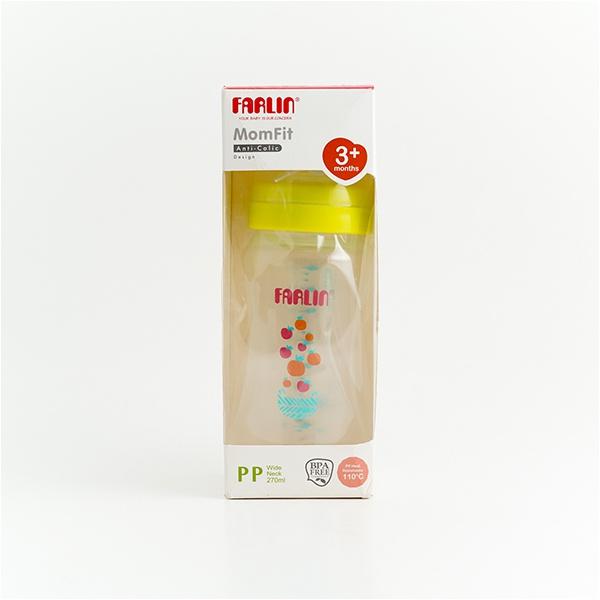 Farlin Feeding Bottle Momfit Green 3+ Months Anti Colic Design Pp 270ml - in Sri Lanka