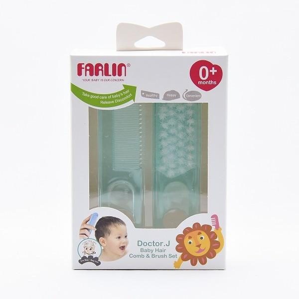 Farlin Comb & Brush Set Blue - in Sri Lanka