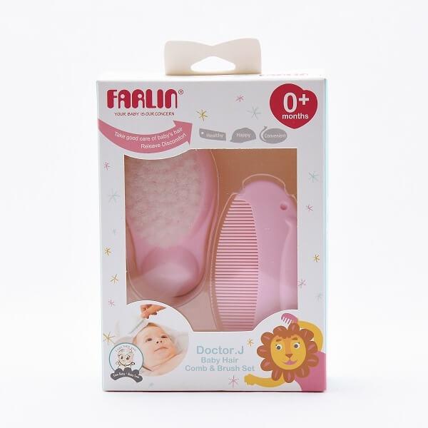 Farlin Comb & Brush Set Pink - in Sri Lanka