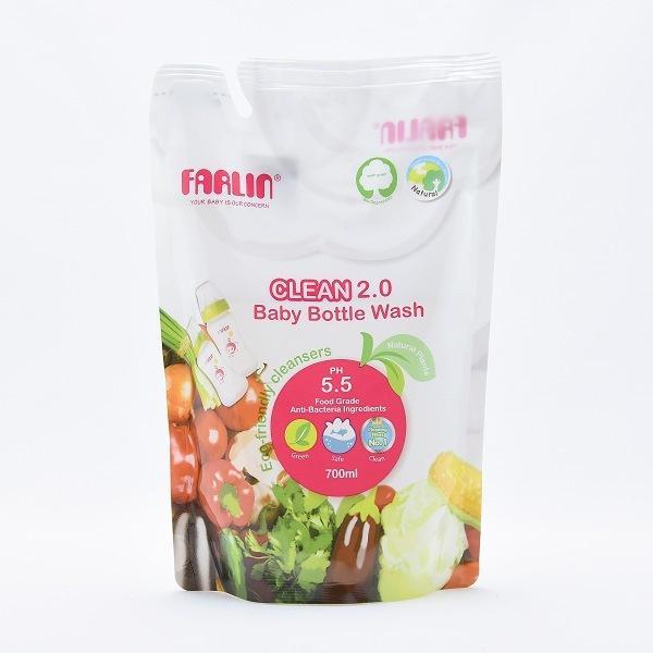 Farlin Baby Bottle Wash Clean 2.0 Refill Pack 700ml - in Sri Lanka