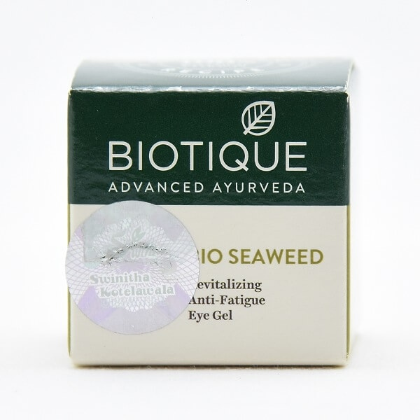 Biotique Under Eye Cream Seaweed 15g - in Sri Lanka