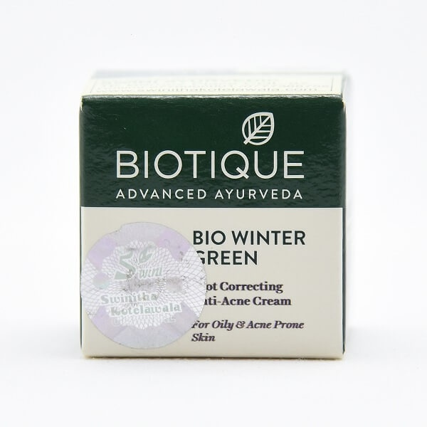 Biotique Anti Acne Cream Bio Winter Green 15g - in Sri Lanka