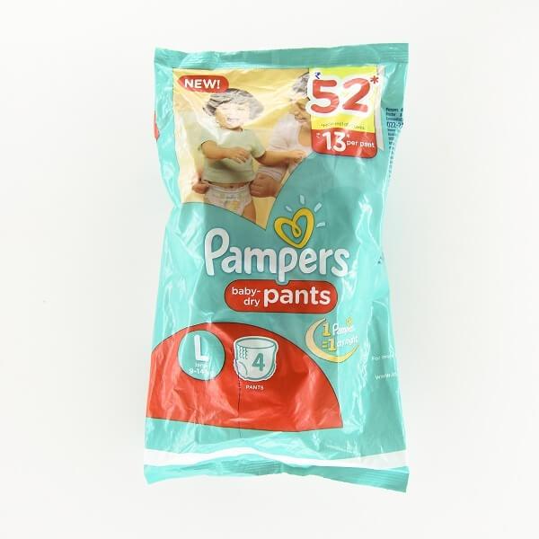Pampers Baby Pants L 4'S - in Sri Lanka