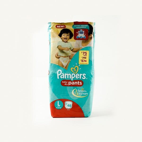 Pampers Baby Pants L 48'S - in Sri Lanka