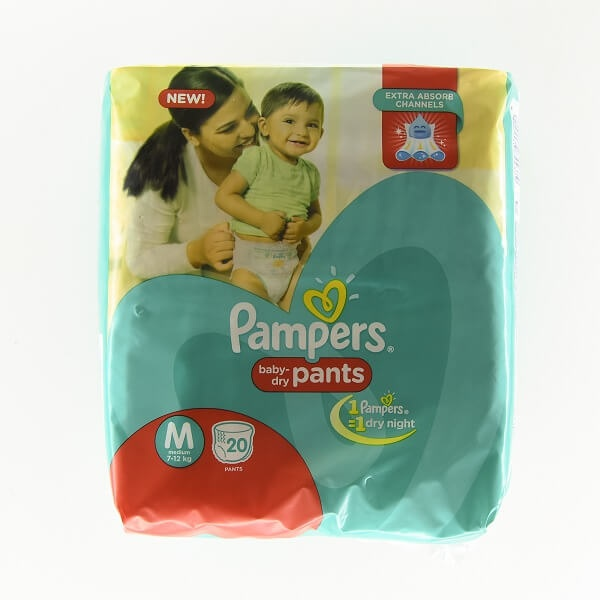 Pampers Baby Pants M 20'S - in Sri Lanka