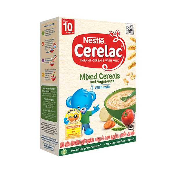 Nestle Cerelac Cereal Mixed Vegetable With Milk 250g - in Sri Lanka