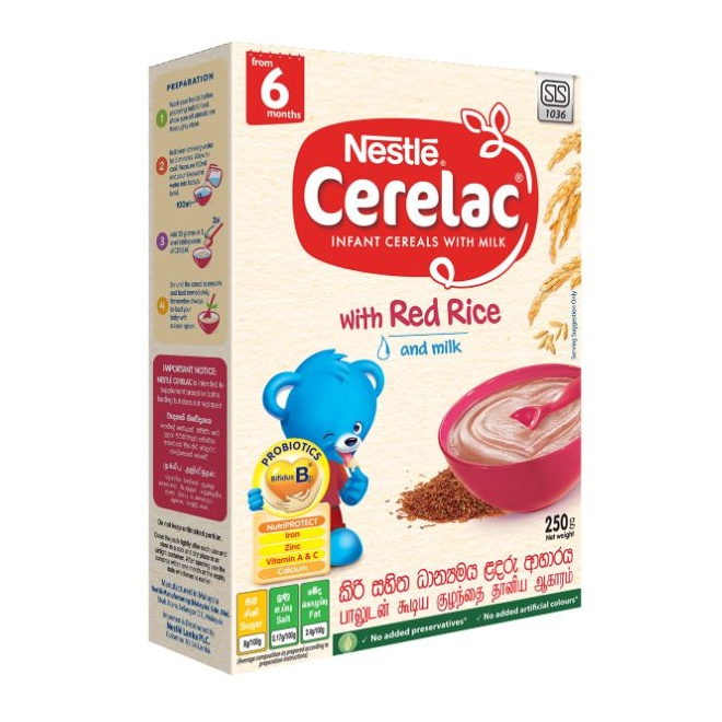 Nestle Cerelac Cereal Red Rice With Milk 250g - in Sri Lanka