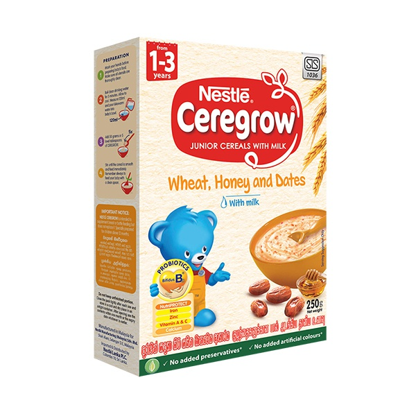 Nestle Ceregrow Cereal Wheat Honey & Dates 250g - in Sri Lanka
