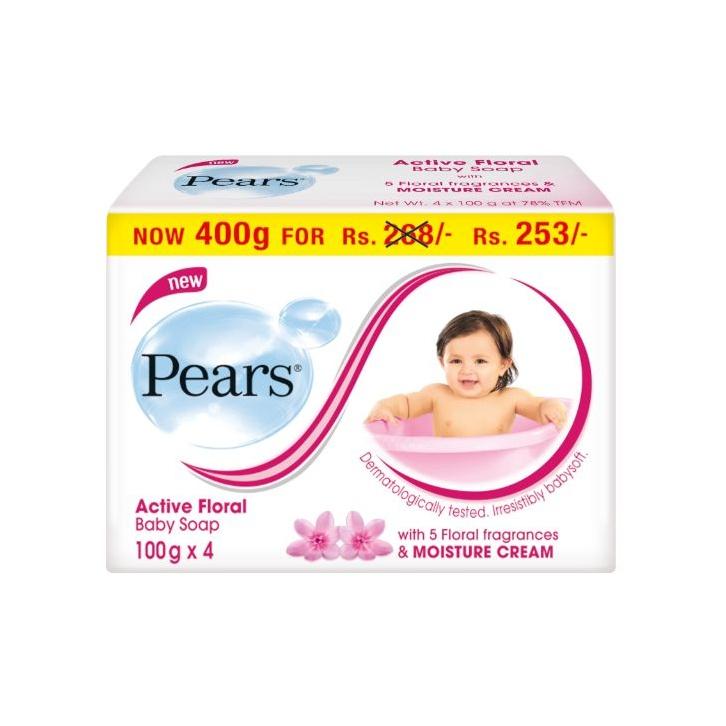 Pears Soap Floral 4 X 100G - in Sri Lanka
