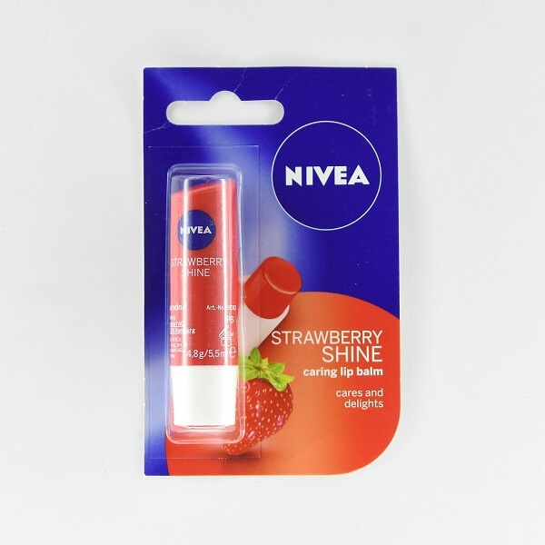 Nivea Lip Balm Strawberry 4.8G - in Sri Lanka
