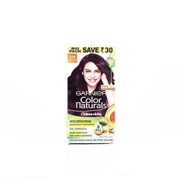 Garnier Hair Color No Ammonia Burgundy 3.16 100ml - in Sri Lanka