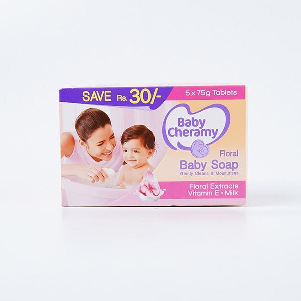 Baby Cheramy Soap Floral Eco 75gx5 - in Sri Lanka