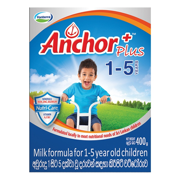 Anchor Plus Milk Powder 1+ 400g - in Sri Lanka