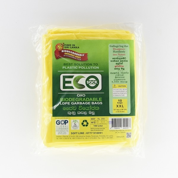 Eco Sack Garbage Bag Ldpe Oxobio S 10s - in Sri Lanka